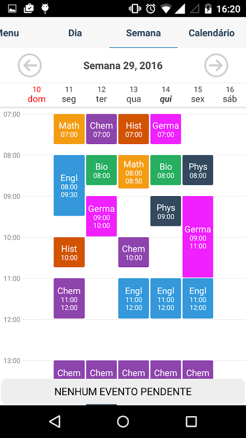 Student Agenda- screenshot