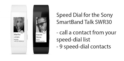Call a contact from your speed dialing list. Nine speed dial contacts available.