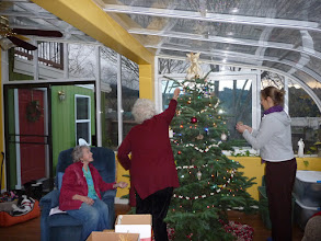 Photo: decorating the tree: christmas 2012