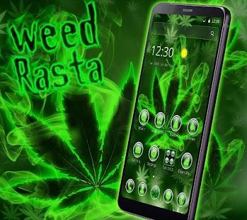 Green Weed Rasta Smoke Theme - náhled