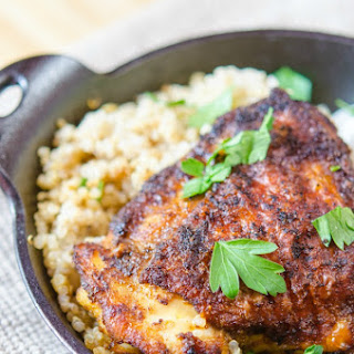 Crispy Spice Rubbed Chicken Thighs