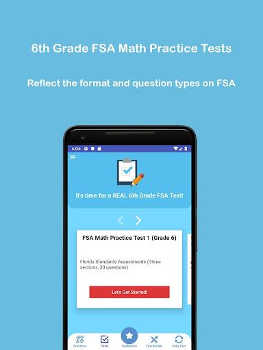 Download Grade 6 FSA Math Test & Practice 2019 1.5 2