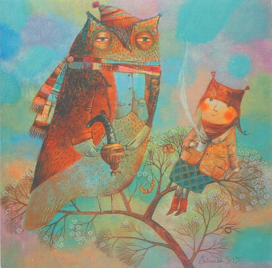 Днем рождения, посткроссинг открытки с совами