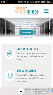 WormMiner : Virtual Bitcoin Mining - náhled