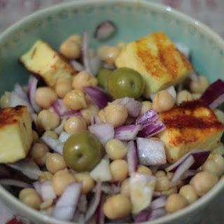 Chickpea and sweet Chilli Paneer salad