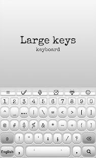 Large Keys Keyboard - náhled