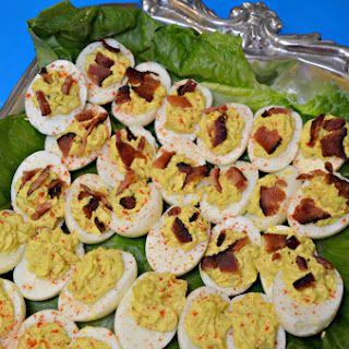 """Bacon and Eggs""-Deviled Eggs"