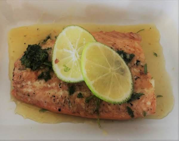 Cilantro Lime Butter Salmon Recipe