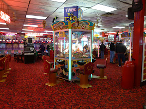 Photo: Surprisingly, the arcade by the boardwalk was open