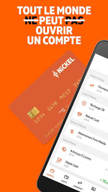 Nickel - Compte pour tous Android App Screenshot