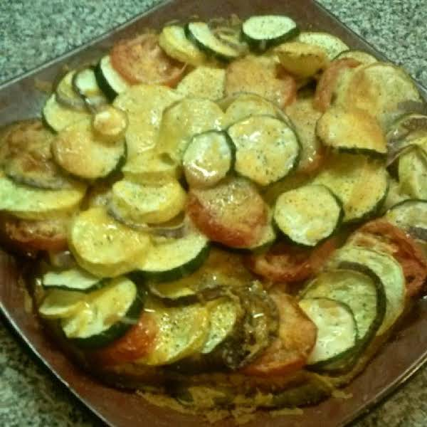 Zucchini, Squash, Tomato Tart Recipe