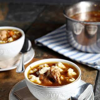 Chicken Spaetzle Soup.