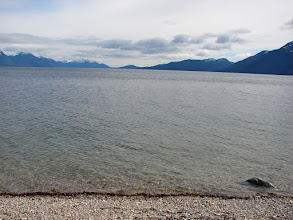 Photo: The view across Wright Sound from my campsite on Gribbell Island.