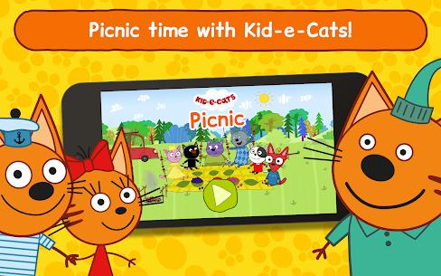 Kid-E-Cats: Three Cats on a Picnic! Kitty Games! 10
