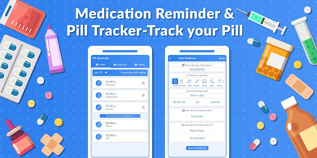 medication reminder pill tracker track your pill apps on google play