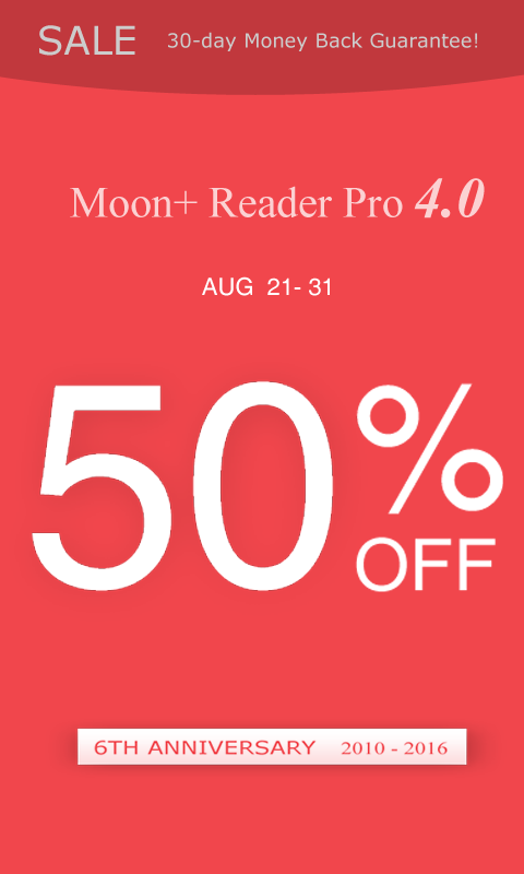 Moon+ Reader Pro (50% OFF)- screenshot