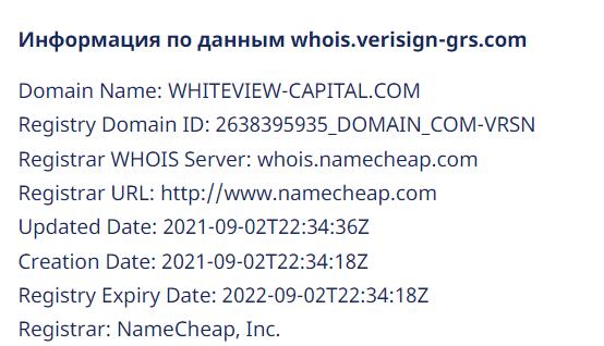 Отзывы о Whiteview-Capital: разбираем обещания проекта — Обман? обзор