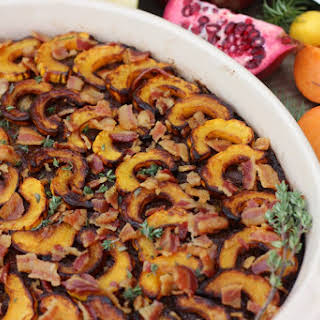 AIP Pork, Apple & Delicata Squash BREAKFAST CASSEROLE with sage and thyme {egg-free, grain-free}.