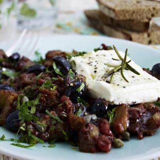 Caponata With Baked Feta Cheese