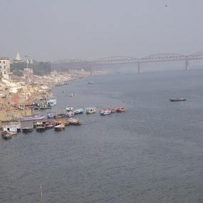 varanasi bridge by Anubhav Tiwari - City,  Street & Park  Historic Districts