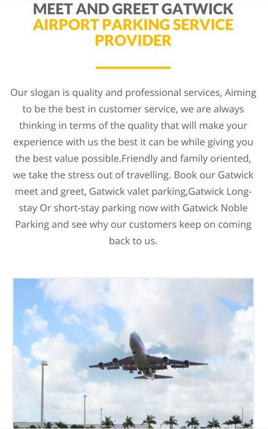 Gatwick Noble Airport Parking- screenshot