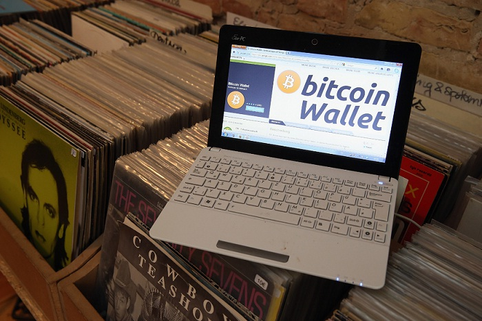 The bitcoin website is shown on the computer of the proprietor of a shop selling vinyl records and that accepts bitcoins for payment in Berlin, Germany. Picture: SEAN GALLUP/GETTY IMAGES