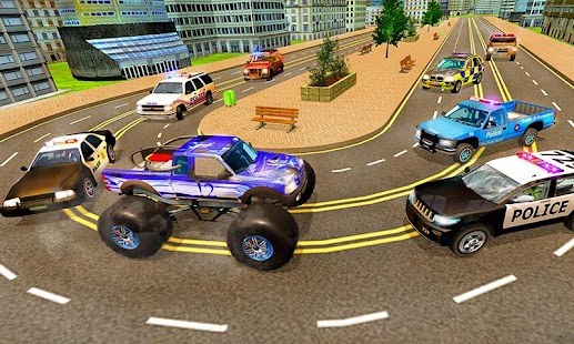 Modern Police Chasing Monster Truck : Cop Escape - náhled