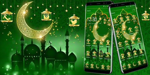 Green Moon Star Ramadan Theme 1.1.6 screenshots 4