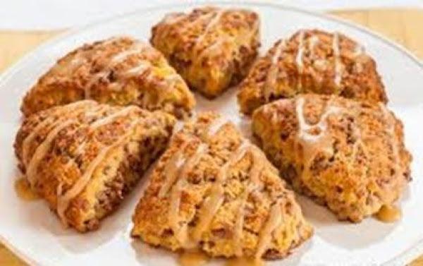 Pumpkin Pie Late Scones With Coffee Drizzle Recipe