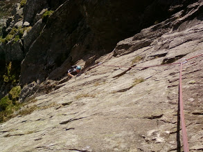 Photo: Grooved Arete VD - Knight's Slab