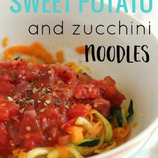 Sweet Potato and Zucchini Noodles