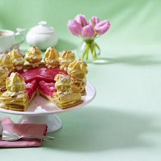 Rhubarb St Honoré Cake
