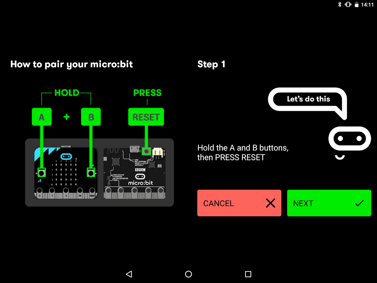 micro:bit- screenshot