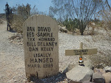 Photo: the famous tombstone graveyard - sometimes they got hanged legally...