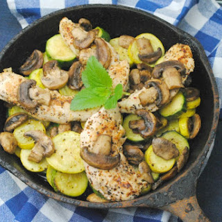 Smothered Balsamic Mushroom Grilled Chicken