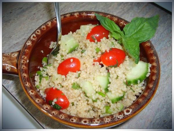 Tomato Basil Couscous Salad Recipe