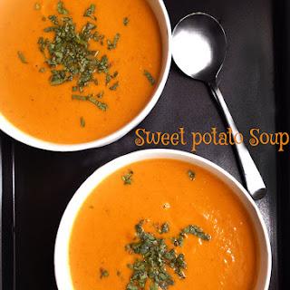 Easy Sweet Potato Soup #SundaySupper
