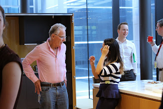 Photo: Bill Johnson (in pink shirt), Melinda Phang, Charles Milne (one of last year's two winners) and David McGiffen (one of the adjudicators)