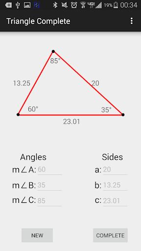 Triangle Calculator: Completer