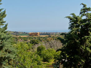 Photo: Temple of Concordia, seen from the Museum of Agrigento