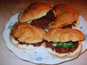 Half Time Beef Sandwiches Recipe