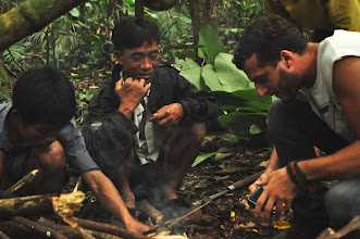 Photo: Making firer-3 Days Nam Ha Jungle Camp in Luang Namtha, Laos