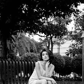 Waiting by Reza Njaa - People Portraits of Women
