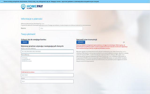 Homepay - automatyzacja płatności