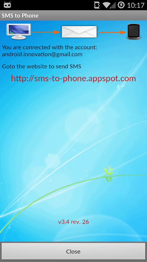 SMS to Phone- screenshot