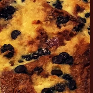 Choc-Chip Panettone Bread and Butter Pudding.