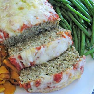 Italian Pesto Turkey-Mushroom Meatloaf.