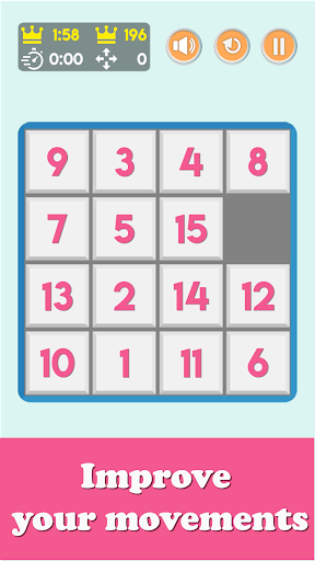 NumPuzzle: Sliding 15 Puzzle. Game of fifteen. screenshot 5