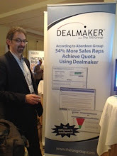 Photo: 54% More Sales Reps Achieve Quota Using Dealmaker. Will Wiegler, CMO The TAS Group at Sales 2.0 Conference — at Sales 2.0 Conference, San Francisco, April 2012.