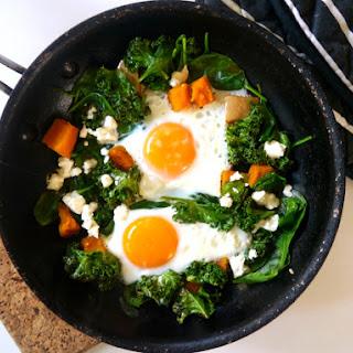 Pumpkin Kale and Feta Eggs.